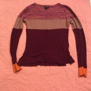 American Eagle Colorblock Purple Sweater Shirt